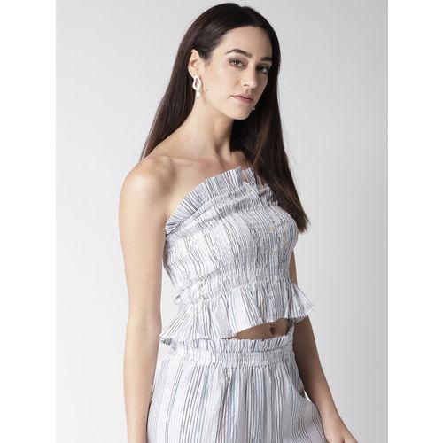 MIWAY Women White Striped Tube Top