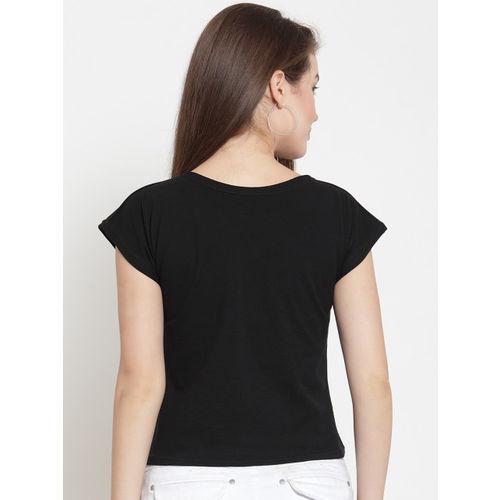 Everlush Women Black Printed Top