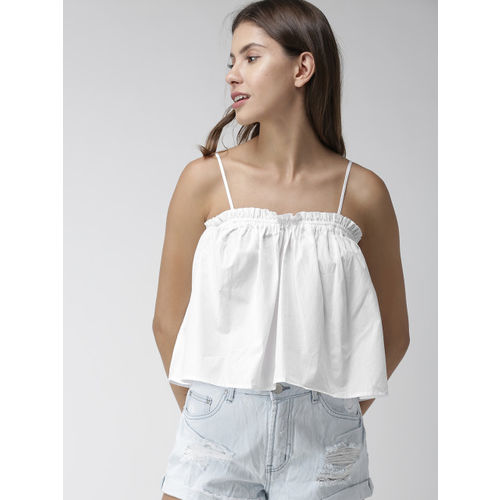 FOREVER 21 Women White Solid Top