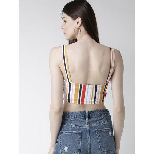 FOREVER 21 Women Multicoloured Striped Bralette Top