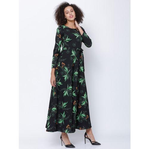 Tokyo Talkies Women Black Printed Maxi Dress