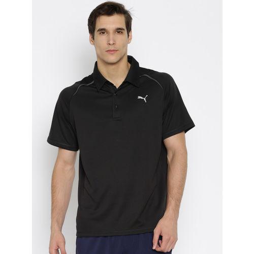 PUMA Men Black Essential Polo T-Shirt