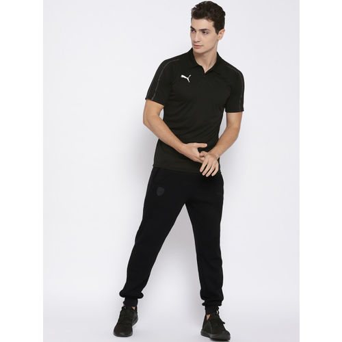 Puma Men Black Solid FINAL Sideline Polo T-shirt