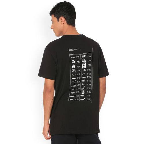 Puma Men Black Solid Round Neck T-shirt