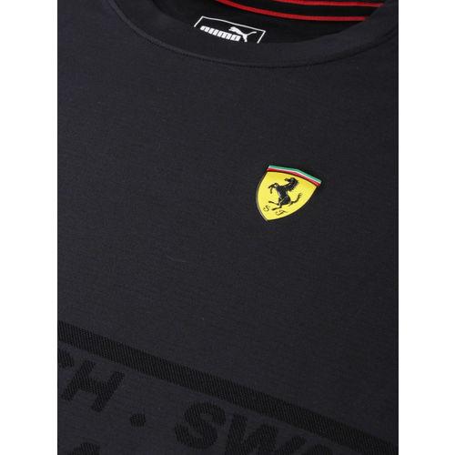 Puma Men SF evoKNIT Black Printed Round Neck T-shirt
