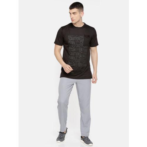Puma Men Black Printed Round Neck CAUTION Graphic DRY-CELL T-shirt