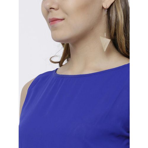 Tokyo Talkies Women Blue Printed Maxi Dress
