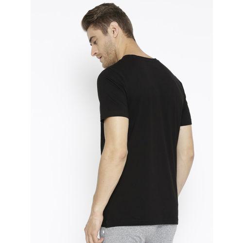 Puma Men Black Graphic Box Logo Printed T-shirt