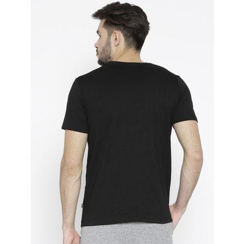 Puma Men Black Printed Speed Round Neck T-shirt