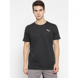 Puma Men Black Solid Energy SS Round Neck T-shirt