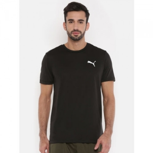 Puma Black Solid Drycell Ess Active T-Shirt