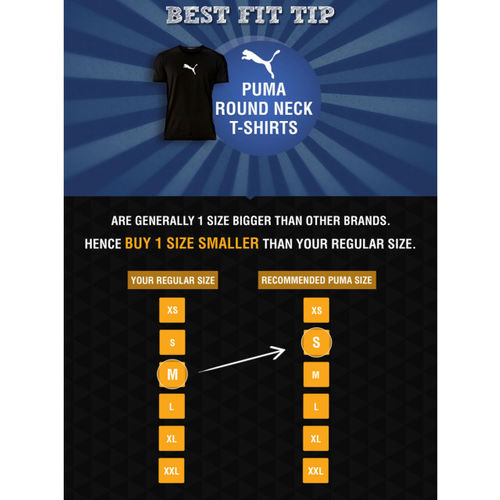 Puma Black Graphic Round Neck T-Shirt