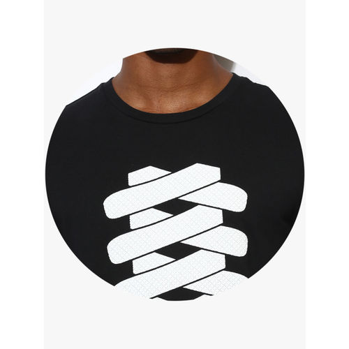 Puma Black Graphic Round Neck T-Shirt