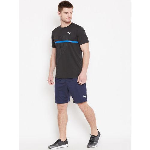Puma Men Black Solid Ignite Graphic Round Neck Running T-shirt