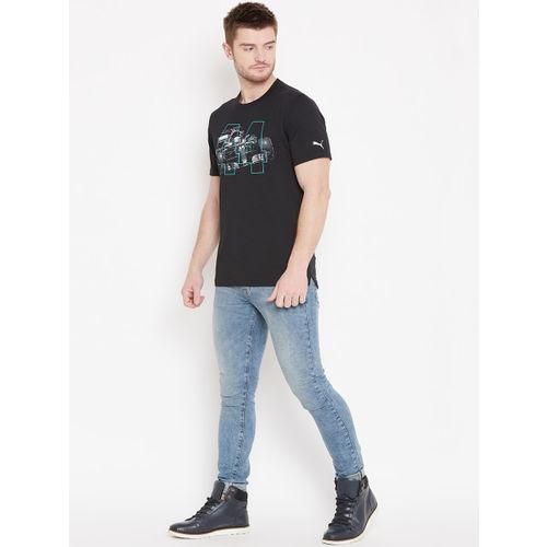 Puma Men Black Printed MAPM Driver T-Shirt