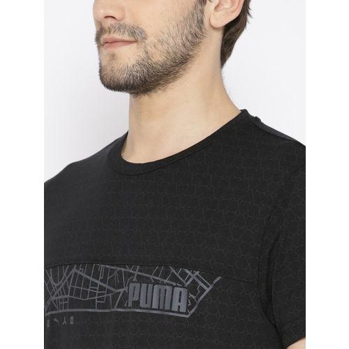 Puma Men Black N.R.G.Triblend Graphic Print T-shirt