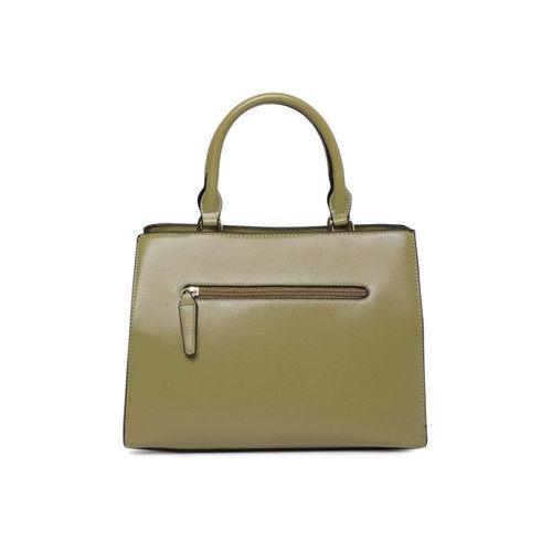 E2O Olive Green Textured Handheld Bag