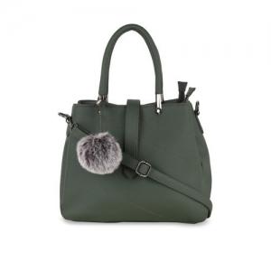 yelloe Green Solid Handheld Bag