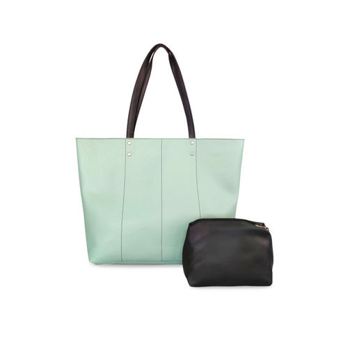 Toteteca Green Solid Handheld Bag
