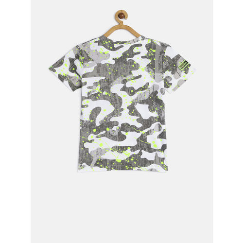 Gini and Jony Boys Multicoloured Printed Round Neck T-shirt
