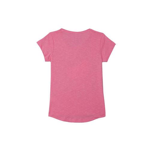 Hello Kitty Girls Pink Printed Round Neck T-shirt
