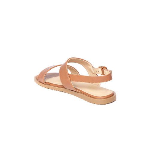 Van Heusen Woman Women Brown Solid Open Toe Flats