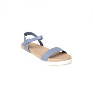 Van Heusen Blue Synthetic Solid Open Toe Flats