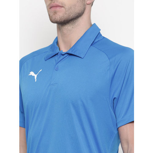 Puma Men Blue LIGA Sideline Polo T-shirt