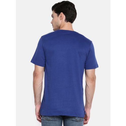 Puma Men Blue Rubber Print Athletics T-shirt