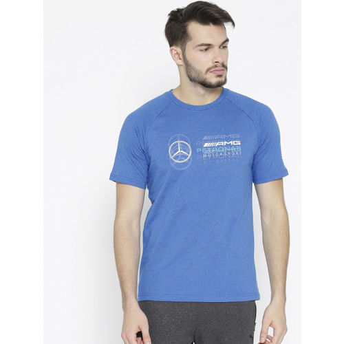Puma Men Blue MAPM Logo T-shirt