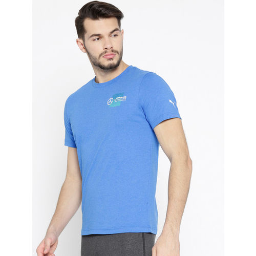 Puma Men Blue Solid MAPM Logo + T-shirt