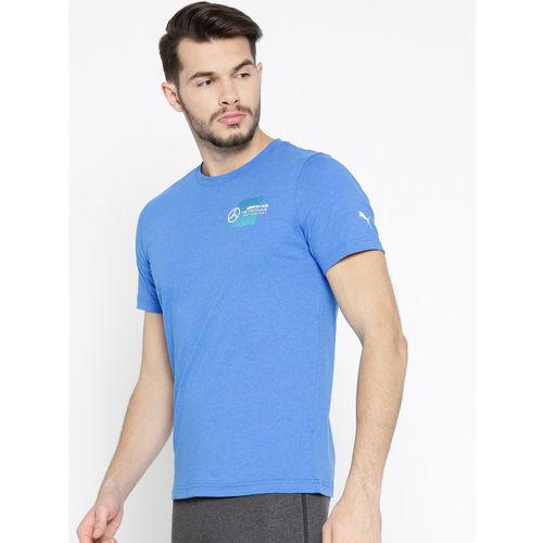 Puma Men Blue Solid MAPM Logo + T-shirt
