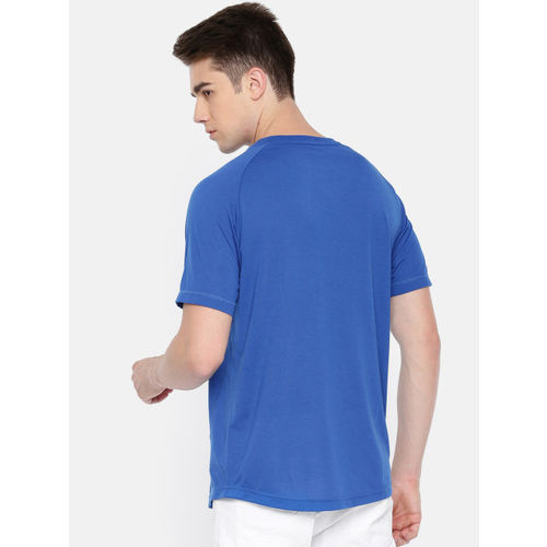 Puma Men Blue Printed Active Tec T-Shirt