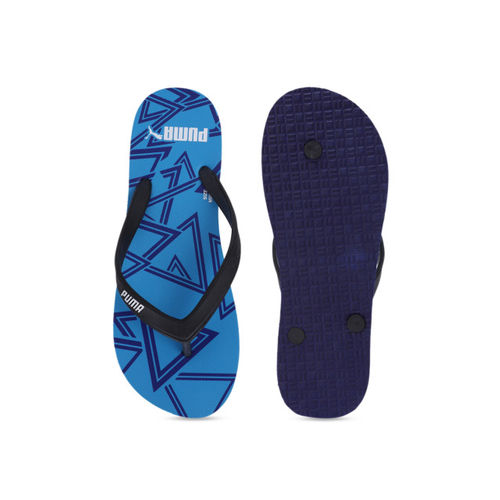 Puma Men Black Solid Thong Flip-Flops