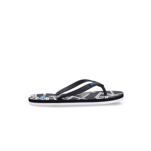 Puma Men Black Neon IDP Printed Thong Flip-Flops