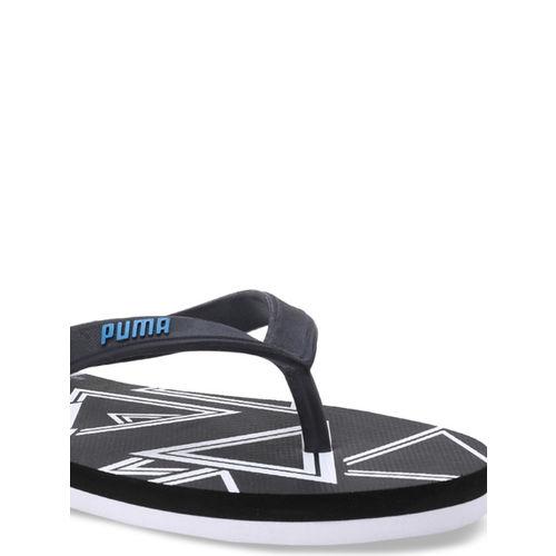 Puma Men Black Neon IDP Printed Thong Flip-Flops