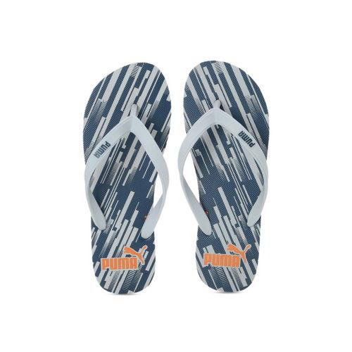 Puma Men Grey Printed Thong Flip-Flops