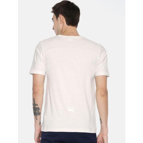 Puma Men White Solid Round Neck Pace Primary T-shirt