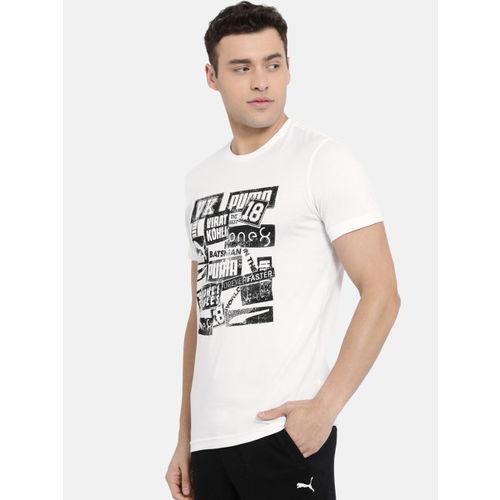 Puma Men White Printed VK Graphic Round Neck T-shirt