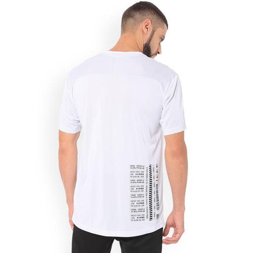 Puma Men White Ferrari Summer Solid Round Neck T-Shirt