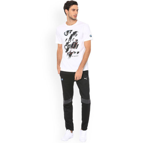 Puma Men White Printed Round Neck BMW T-shirt