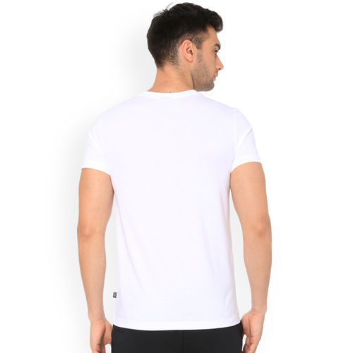 Puma Men White Printed Round Neck T-shirt