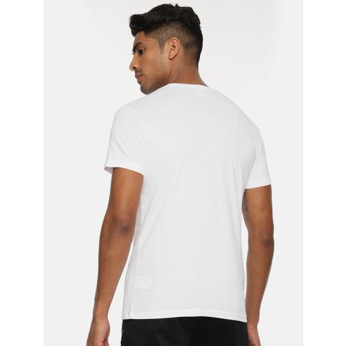 Puma Men White Printed Graphic Round Neck T-shirt