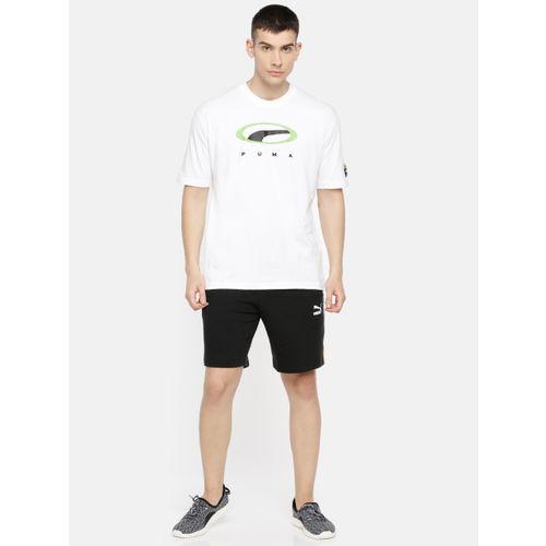 Puma Men White Printed 90s Retro DRY-CELL Round Neck T-shirt