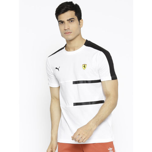 Puma Men White SF T7 T-shirt