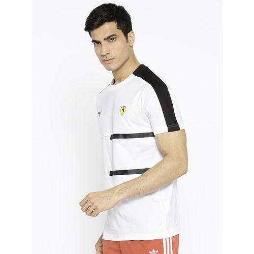 Puma Men White SF T7 T-shirt