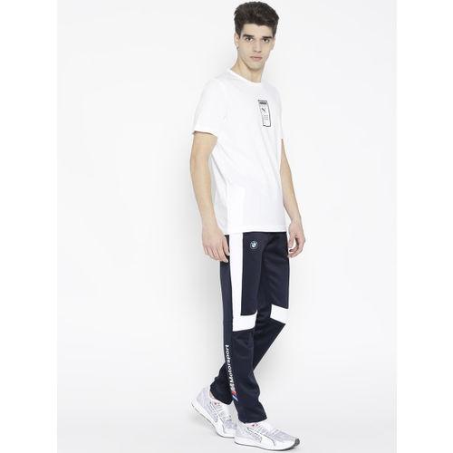 Puma Men White Printed Back Brand Placed T-Shirt