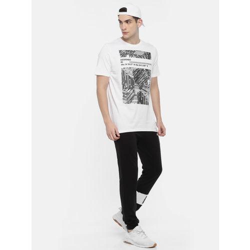 Puma Men White Graphic Pace Printed Round Neck T-shirt