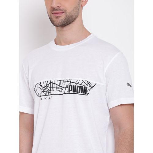 Puma Men White N.R.G. Triblend Graphic Print Round Neck T-shirt