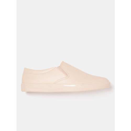 DressBerry Women Peach-Coloured Slip-On Sneakers